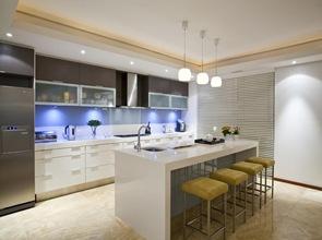 diseño cocina de lujo con isla blanca