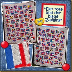 Quilt114115der rote und der blaue Zwilling