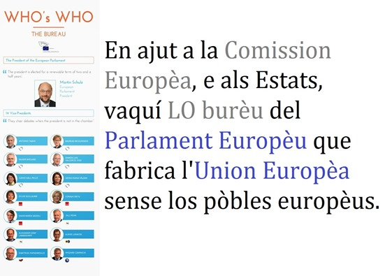Parlament Europèu burèu de direccion
