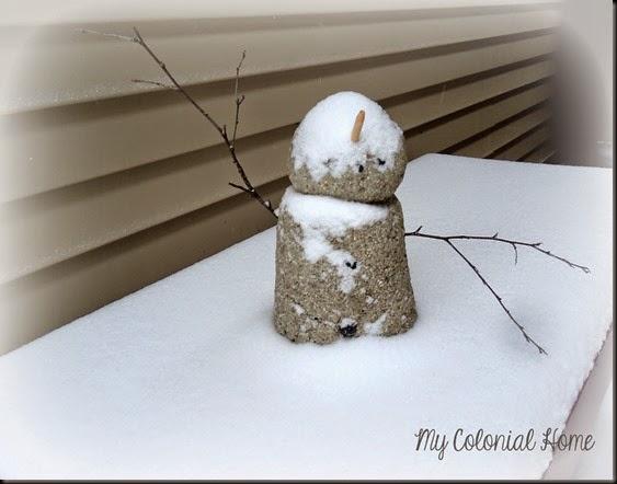 Cement Snowman