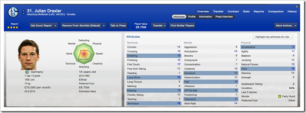 Julian Draxler_ Overview Attributes