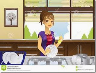 housewife-washing-dishes-22755247