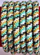 Green rollover bracelet black stripe