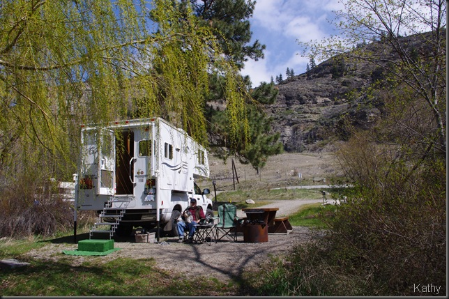 Campsite at Vaseux Lake