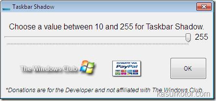 Menambahkan Efek Bayangan ke Taskbar Windows 7