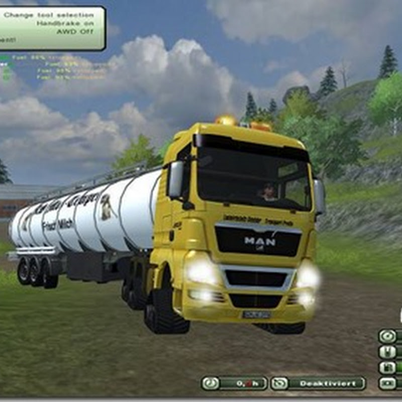 Farming simulator 2013 - MAN TGX 18 680 6X6 CRAWLER v 1.0