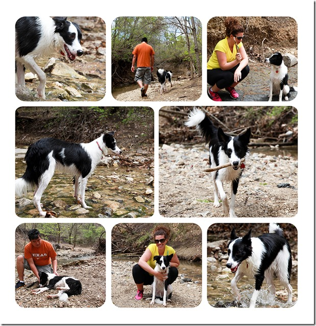 Brady Playing in the Creek Easter Collage