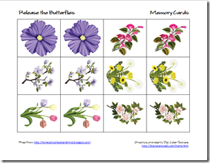 butterflies memory cards 2