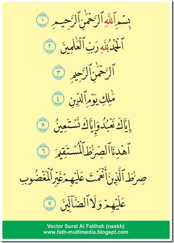 Surat Al Fatihah-Naskh-vector-islamic design