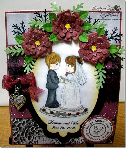 Anniversary Easel Cake Card