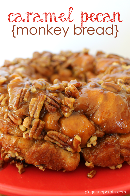Caramel Pecan Monkey Bread Recipe at GingerSnapCrafts.com #ad