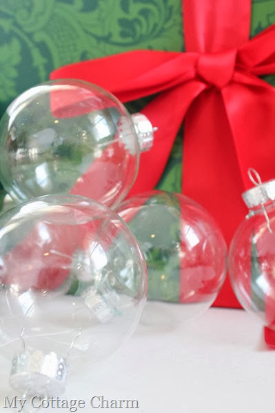 Clear glass ornaments