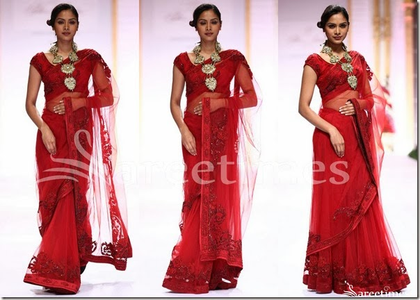 Pallavi_Jaikishan_Red_Net_Saree
