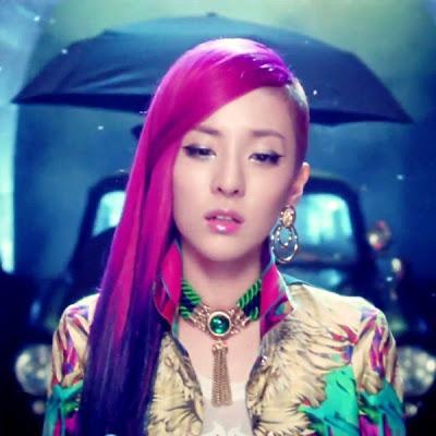 2NE1 Sandara Park Hairstyle