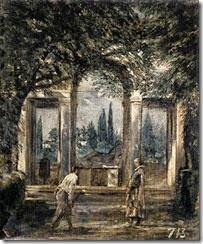 Villa Médicis, pabellón de Ariadné-Diego Velázquez