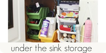 under the sink storage