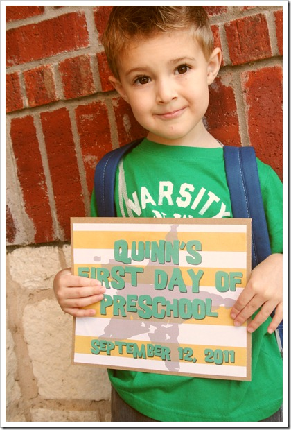 First Day of PreK 2011 074