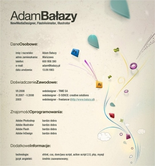 16 muestras de CV creativos que no precisamente son para diseñador 3