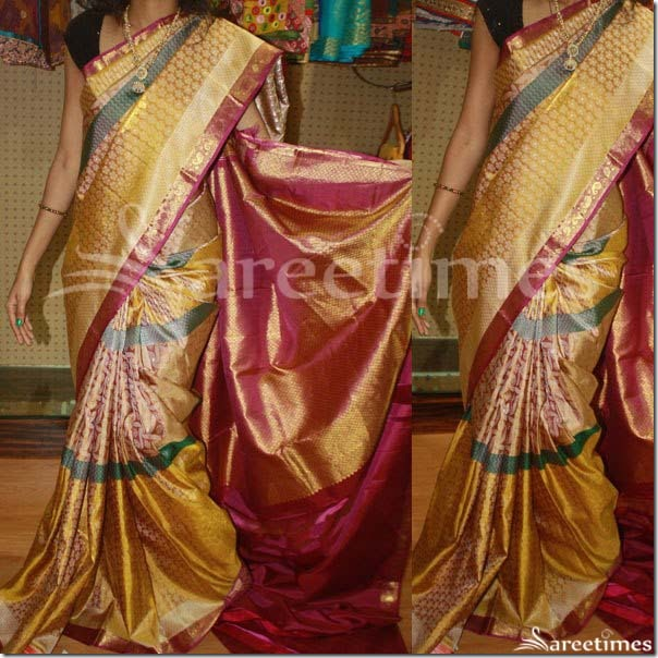 Pink_Gold_Kanjeevaram_Silk_Saree