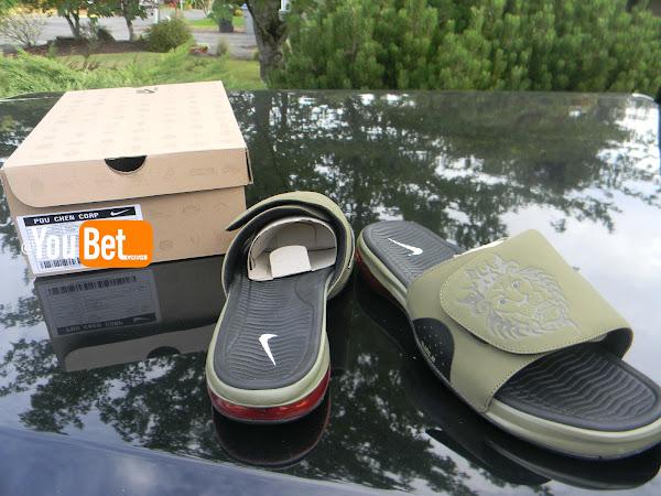 Unreleased Nike Air LeBron Slide Iguana Sample