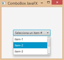 ComboBox JavaFX