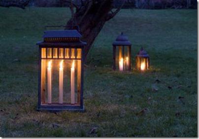 Levende lys i haven