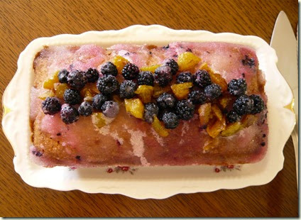 plum and blackberry drizzle cake