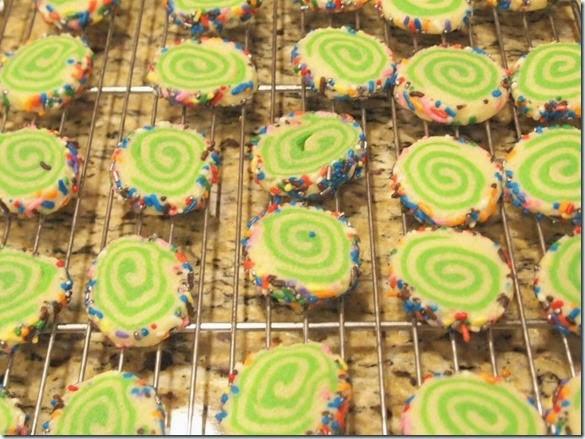 Rolled Pinwheel Elf Bites