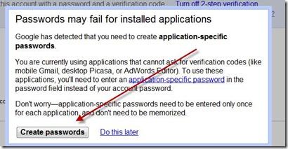 creare nuove password