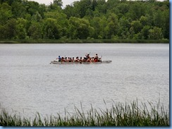 4891 Laurel Creek Conservation Area  - boat on Laurel Reservoir