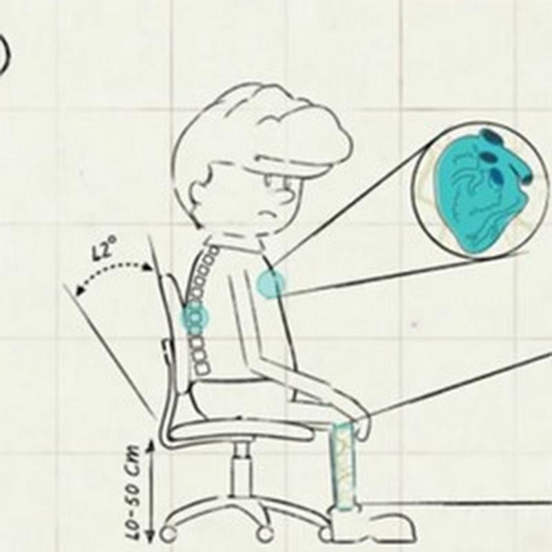 Video sobre cómo mejorar nuestra postura y salud al trabajar sentados
