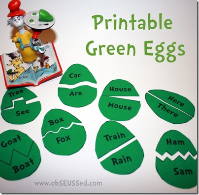 Green Eggs And Ham Printable Games