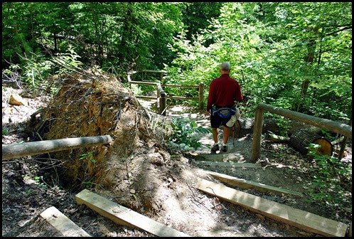 42 - Battleship Rock Trail- Top is steep and has damage