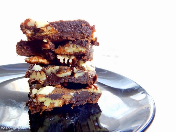 Salted Caramel Turtle Brownies