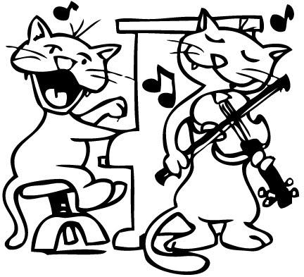 LA MUSICA Y LOS ANIMALES DIBUJOS PARA COLOREAR DE ANIMALES QUE TOCAN ...