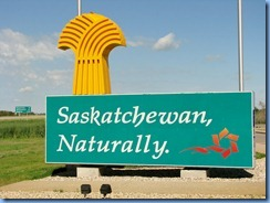 8429 Saskatchewan Trans-Canada Highway 1 - sign at border