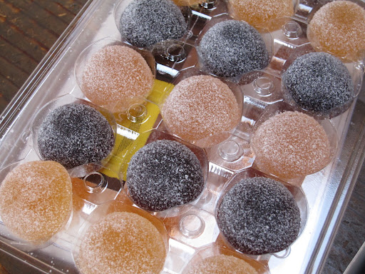 Pate de Fruit from Charles Chocolates made with real wine.