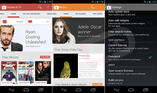 Google Play Store 4.0