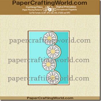card daisy shaped ppr cf-350