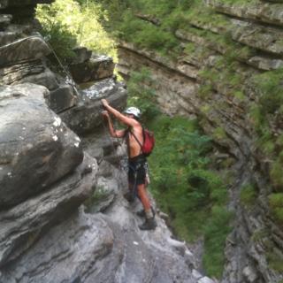 Vorige week was Harry hier en hebben we samen de klettersteig van Broto gedaan.