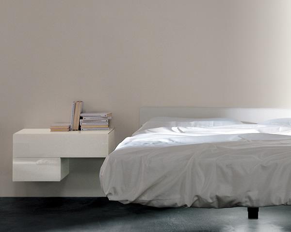 Lago mobile letto fluttua con comodino laccato - Camere da letto lago ...