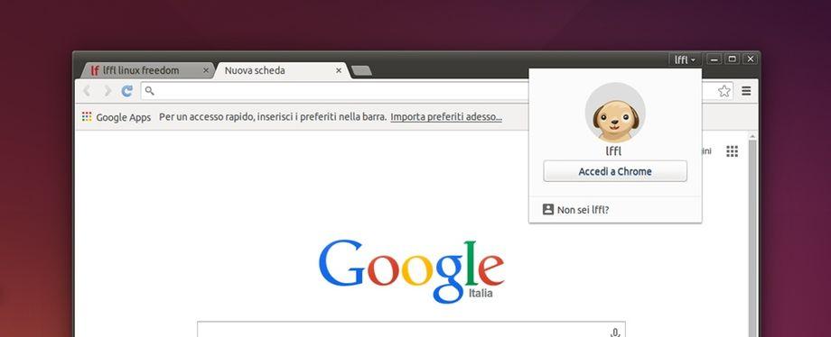 Chrome gestore degli utenti