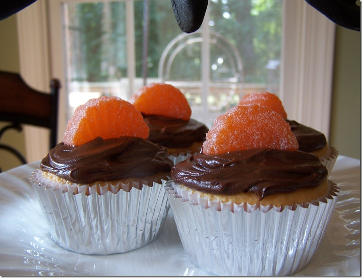 Orange Chocolate Cupcakes 025