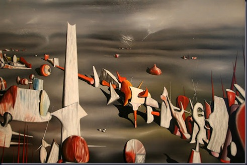 Yves Tanguy, The Rapidity of Sleep, 1945