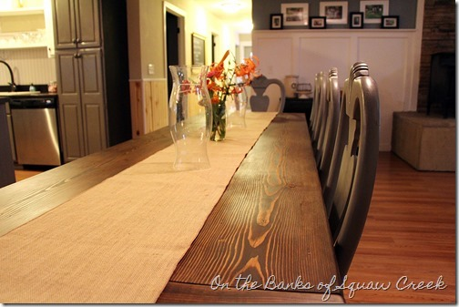 queen anne chairs and diy farm table