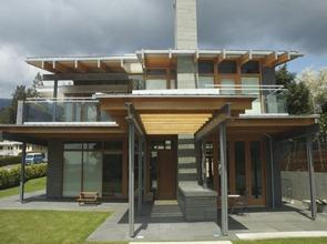 Casa-de-fachada-moderna-acero-y-madera