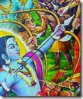 [Rama shooting arrows]