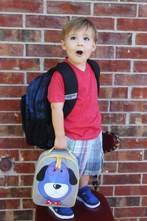 Nash's 1st day of School & Baylor Game 098