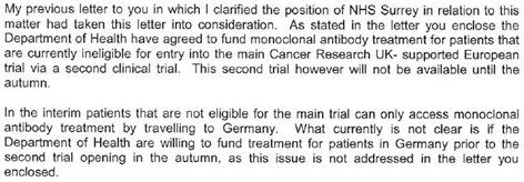 NHS Surrey Letter Exert