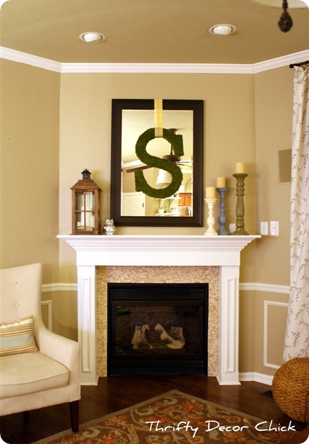 A fireplace redo from Thrifty Decor Chick
